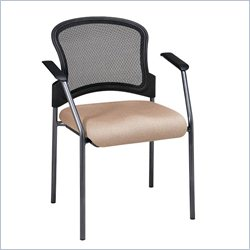 Office Star ProGrid Contour Back Guest Chair with Arms in Camel