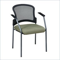 Office Star ProGrid Contour Back Guest Chair with Arms in Olive