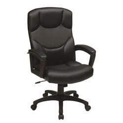 Bonded Leather Office Chair in Black