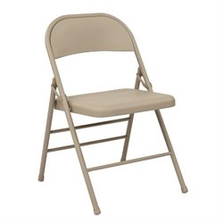 Office Star Work Smart Folding Chair in Tan