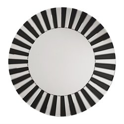 Office Star The Jazz Note Round Wall Mirror in Black