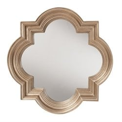 Office Star The Gatsby Wall Mirror in Platinum Gold