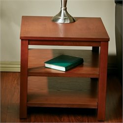 Office Star Work Smart Square End Table in Cherry