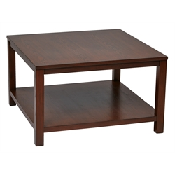 Office Star Work Smart Coffee Table in Mahogany