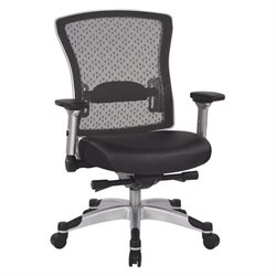 Office Star Executive Mesh Back Office Chair with Flip Arms in Black