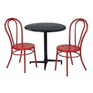 3 Piece Patio Dining Set in Red