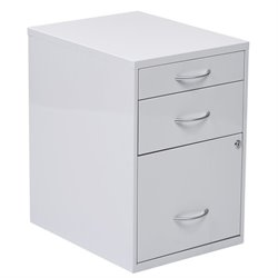 Office Star 3 Drawer Filing Cabinet in White