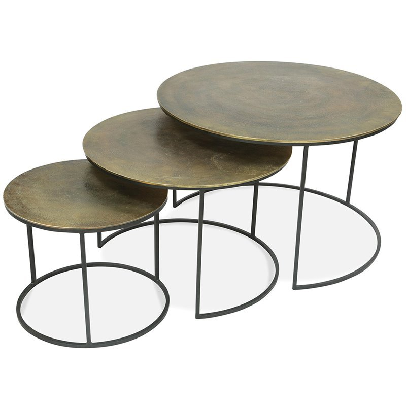 Riverside Furniture Portia Piece Nesting Coffee Table Set - 3 piece nesting coffee table