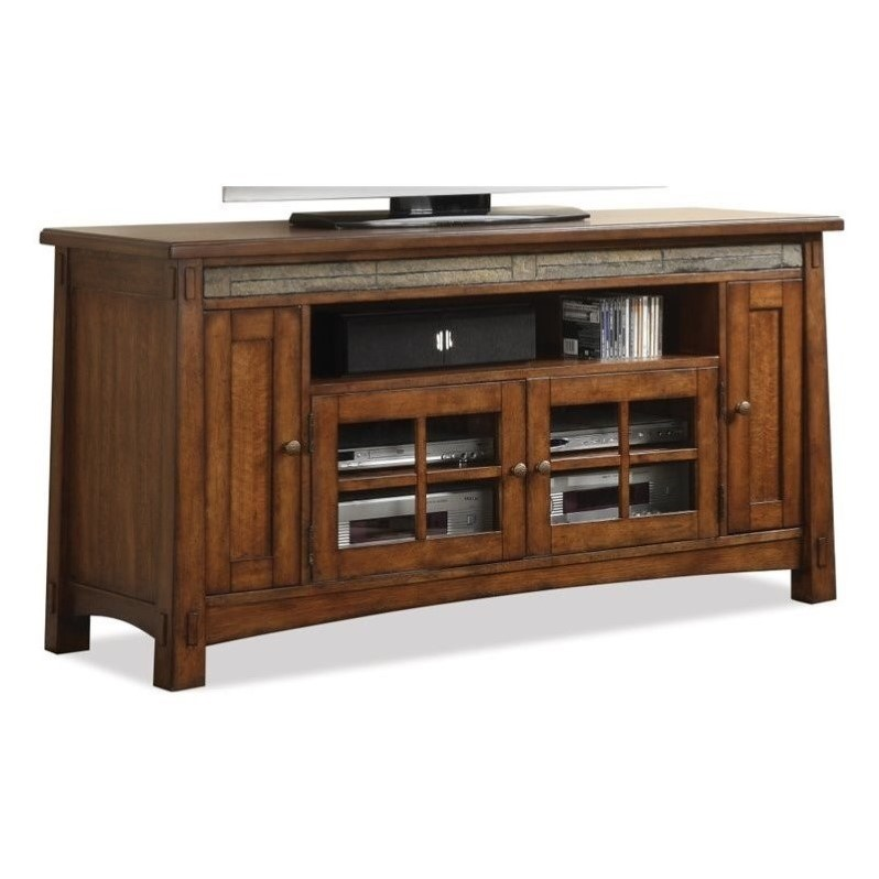 Riverside furniture craftsman home 62 inch tv stand in Craftsman furniture