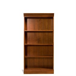Riverside Furniture American Crossings Small Bookcase in Fawn Cherry