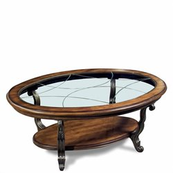 Riverside Ambrosia Oval Coffee Table in Terra Sienna Finish