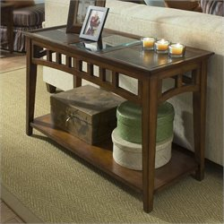 Riverside Andorra Sofa Table in Eden Burnished Cherry