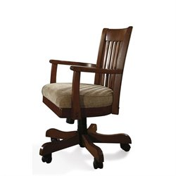 Riverside Cantata Arm Chair with Casters in Burnished Cherry