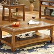 Riverside Craftsman Home Rectangle Coffee Table in Americana Oak Finish
