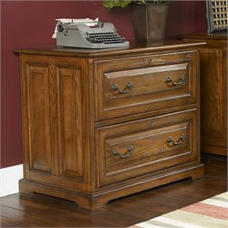 Riverside Seville Square 2 Drawer File Cabinet in Warm Oak