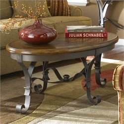 Riverside Stone Forge Oval Coffee Table