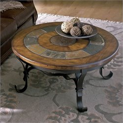 Riverside Stone Forge Round Coffee Table