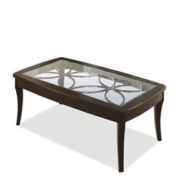 Riverside Annandale Rectangular Cocktail Table in Dark Mahogany