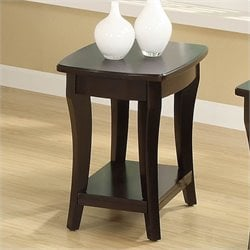 Riverside Furniture Annandale Chairside Table in Dark Mahogany
