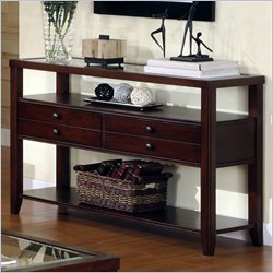 Riverside Furniture Avenue Sofa Table in Dark Cherry
