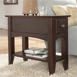 Riverside Furniture Metro II Chairside End Table in Ebony Brown