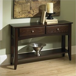Riverside Furniture Metro II Sofa Table in Ebony Brown