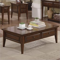 Riverside Furniture Hilborne Cocktail Table in Burnished Cherry