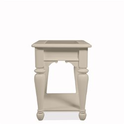 Riverside Furniture Essex Point Rectangular End Table in Shores White
