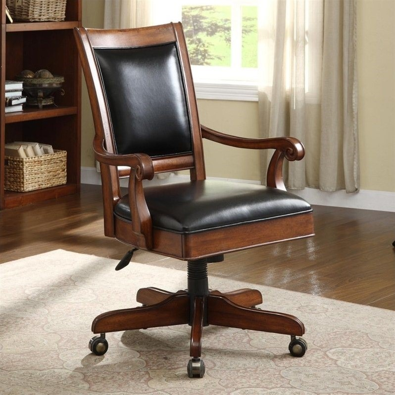 Riverside Furniture Cantata Desk Office Chair in Burnished Cherry