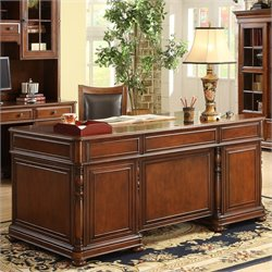 Riverside Furniture Bristol Court Executive Desk in Cognac Cherry
