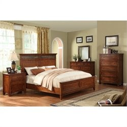 Riverside Furniture Craftsman Home Panel Bed in Americana Oak - Queen
