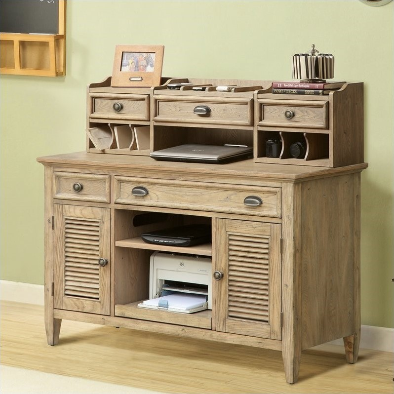 Coventry Credenza & Hutch in Driftwood