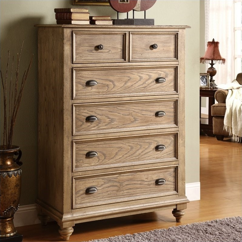 Riverside Furniture Coventry 5 Drawer Chest In Driftwood