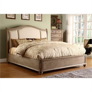 Riverside Furniture Coventry Upholstered Sleigh Bed in Driftwood