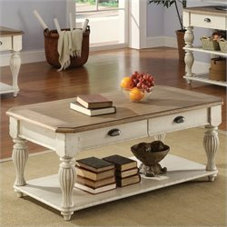 Riverside Furniture Coventry Rectangular Coffee Table in Dover White