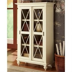 Riverside Furniture Coventry Two Tone Bookcase in Dover White
