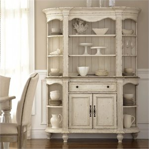 Riverside Furniture Coventry Two Tone China Cabinet in Dover White