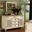 ADD TO YOUR SET: Riverside Furniture Coventry Shutter Door Dresser and Mirror Set in Dover White
