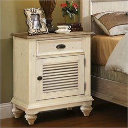 Riverside Furniture Coventry Two Tone Nightstand in Dover White