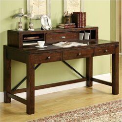 Riverside Furniture Castlewood Writing Desk with Hutch in Warm Tobacco