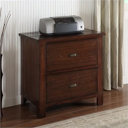 Riverside Furniture Castlewood Lateral File Cabinet in Warm Tobacco
