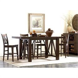 Riverside Furniture Castlewood Gathering Dining Table in Warm Tobacco