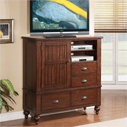 Riverside Furniture Castlewood Media Chest in Warm Tobacco