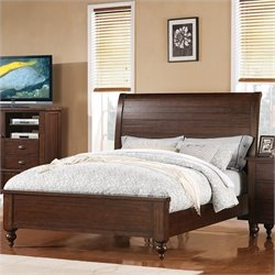 Riverside Furniture Castlewood Queen Bed in Warm Tobacco