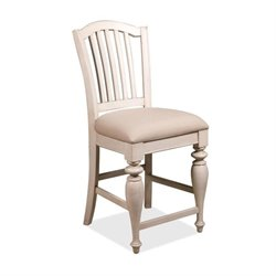 River Furniture Counter Height Dining Chair in Dover White