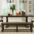 Riverside Furniture Newburgh Bench in Antique Ginger