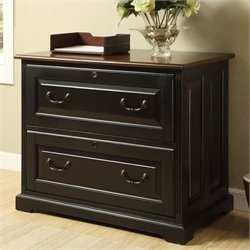 Riverside Furniture Bridgeport 2 Drawer File Cabinet in Black