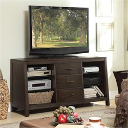 Riverside Furniture Promenade Canted TV Console in Warm Cocoa