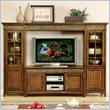 Craftsman Home TV Entertainment Center in Americana Oak