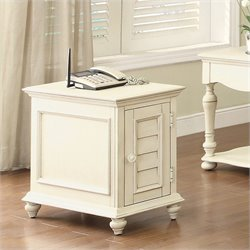 Riverside Furniture Placid Cove Chairside Chest in Honeysuckle White